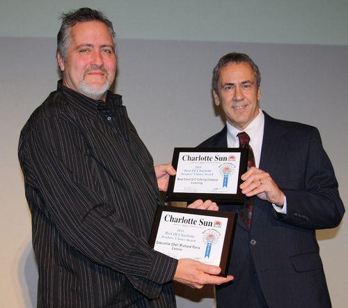 Chef Richard receiving two prestigious awards