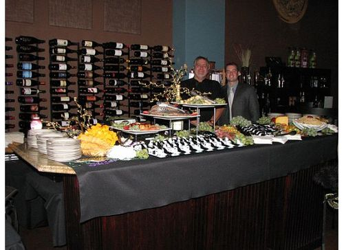 Chef Richard and Nick Nemec, owner of Bin 82