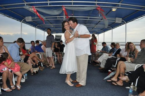 Ted and Leah Payne boat wedding 2